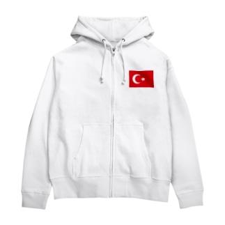オスマン帝国 Zip Hoodies