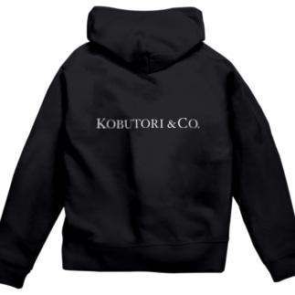 KOBUTORI&Co. 黒推奨 Zip Hoodies