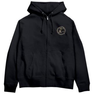 濱の萬やの濱の萬や ロゴ(丸) Zip Hoodie