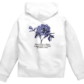 flower Zip Hoodies