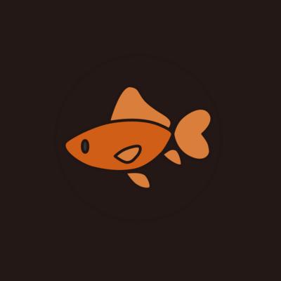金魚さん缶バッジ 横向バージョン