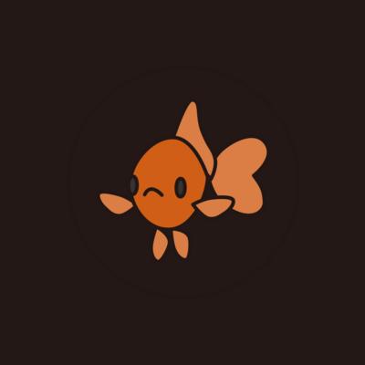 金魚さん缶バッジ こっちみてるバージョン