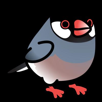 Chubby Bird 桜文鳥 (ワンポイント)