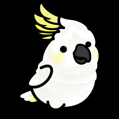 Chubby Bird キバタン (ワンポイント)