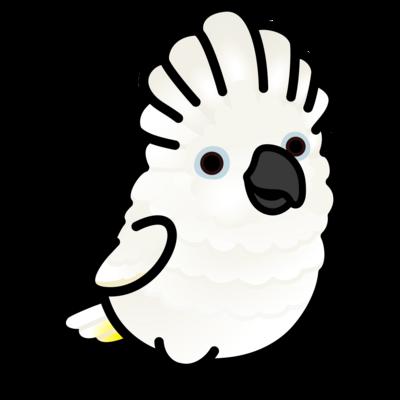 Chubby Bird タイハクオウム (ワンポイント)