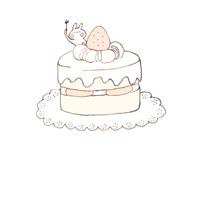 ケーキとうさぎ