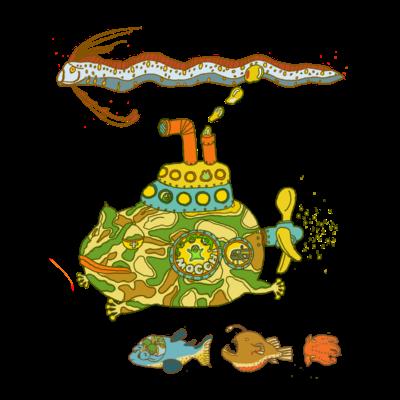 カエル潜水艦