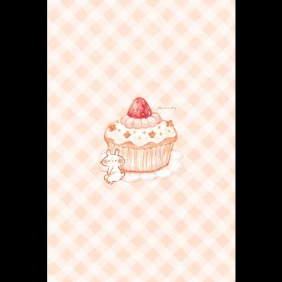 カップケーキとうさぎ