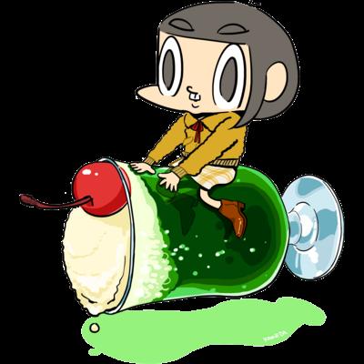 のるカメダ 003:ソーダ