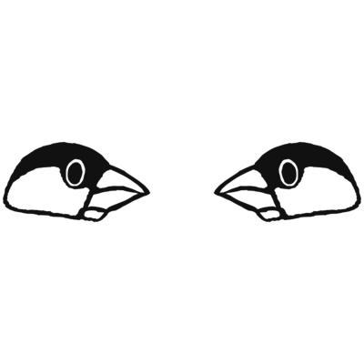 ジャワスパロー・モノクロ両面印刷