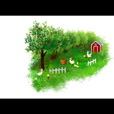 アヒルのリンゴ農園