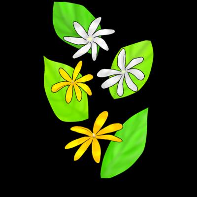 ティアレ 花と葉