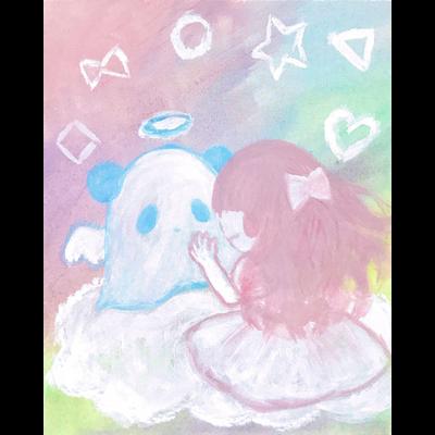 天使のパンダちゃんと女の子