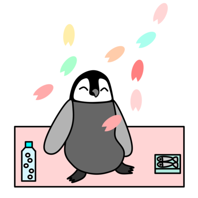 お花見ペンギン