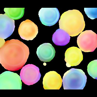 カラフルほわほわ水玉