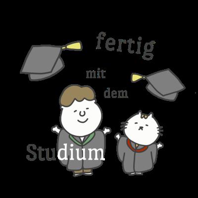 fertig mit dem Studium: ドイツ語イラストグッズ