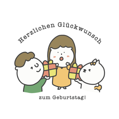 Herzlichen Glückwunsch zum Geburtstag; ドイツ語イラストグッズ
