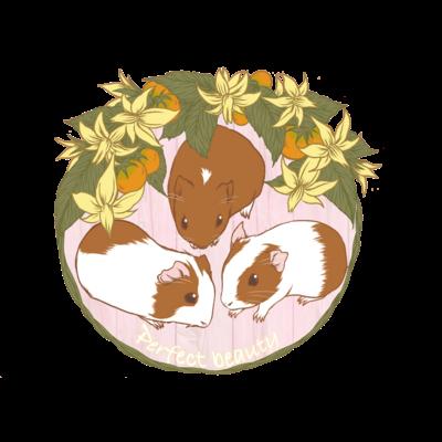 お花とモルモット