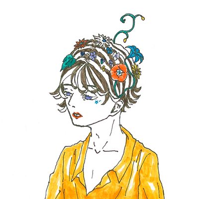 Flower blooms on the head.