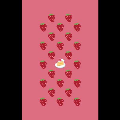 🍓 絵文字 ストロベリー オンザ ショートケーキ 🍰