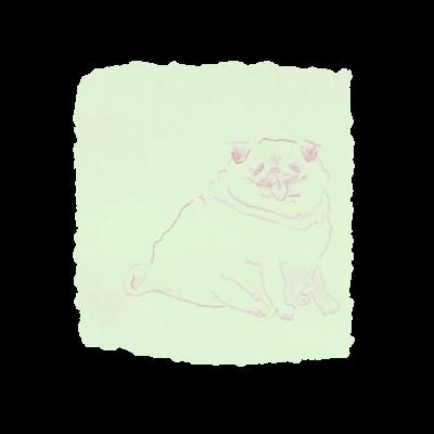 左手で描いた らくがき犬