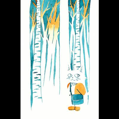 森林のねこ