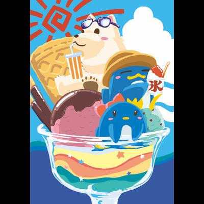 夏祭りパフェ