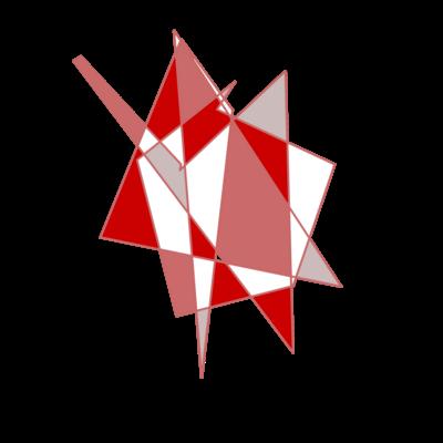 赤い幾何学