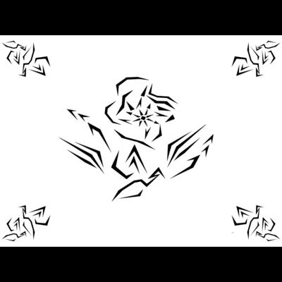 ネオ花柄ステッカー(オリジナル)