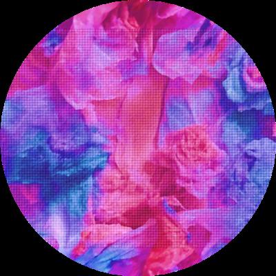 ■ 極彩色のステッカー