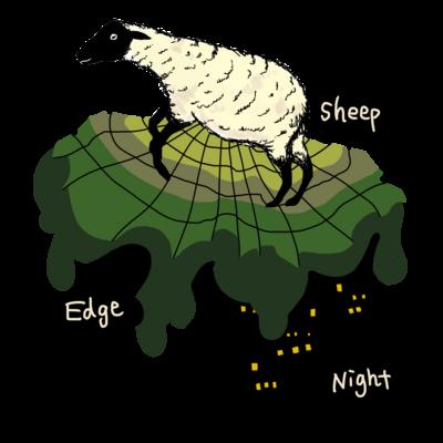 Sheep Edge the Night
