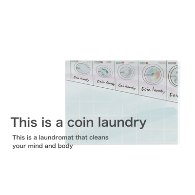 This is a laundromat that cleans your mind and body