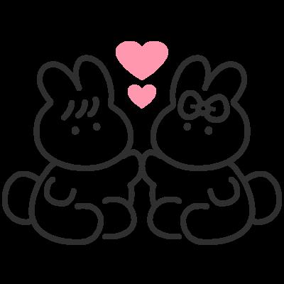 うさちゃんカップル シリーズ