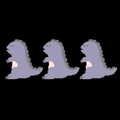 ムラサキ恐竜