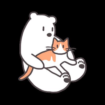 茶白猫リンは膝の上