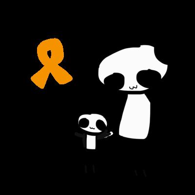 オレンジリボンパンダ