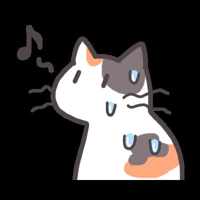 猫は肉球にしか汗をかかない