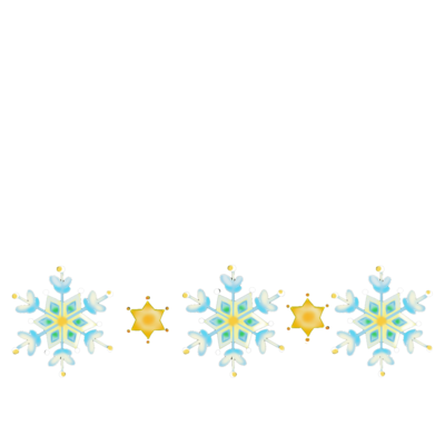雪の結晶と星