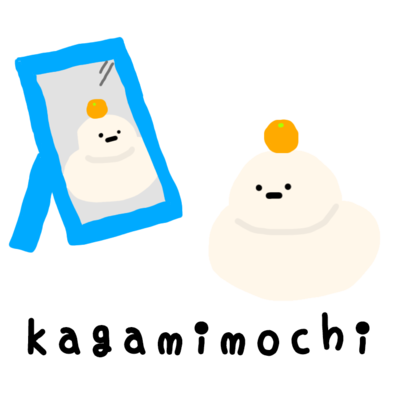 鏡の国の鏡もち