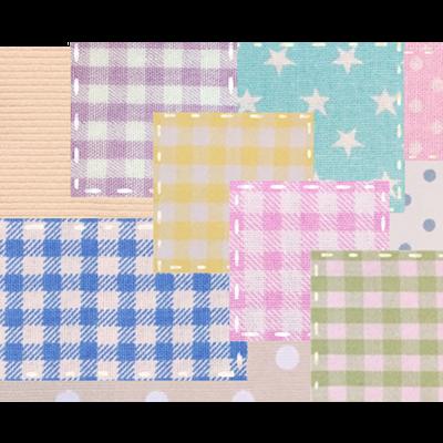 カラフル☆ミルキーパッチワーク風♡(大柄)