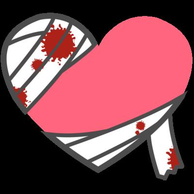 ハート 包帯 ピンク