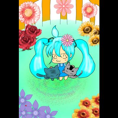 私(miku)と愛猫の青くん💙苺心くん🍓