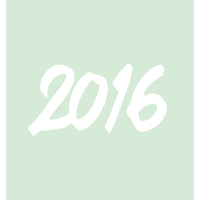 HAPPY 2016 with FRESH MINT GREEN !