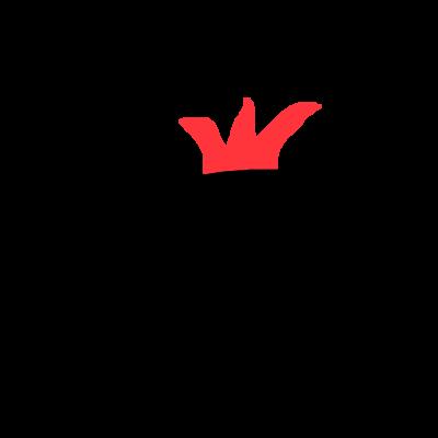 赤いギザギザのついた黒い塊