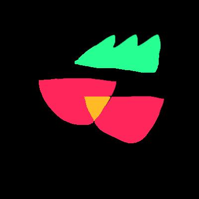 緑のギザギザと赤いのふたつ、さくらんぼミニトマト