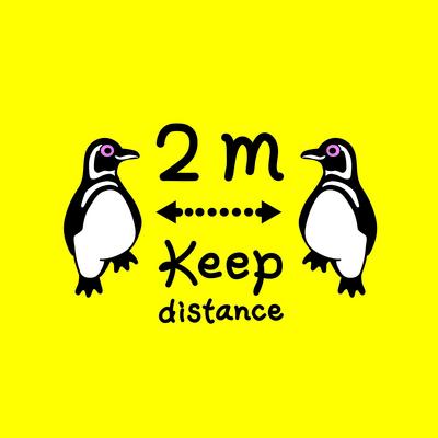 マゼランペンギン好きのためのソーシャルディスタンスアイテム
