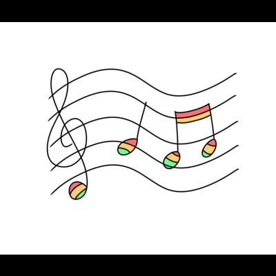 虹の音符たち