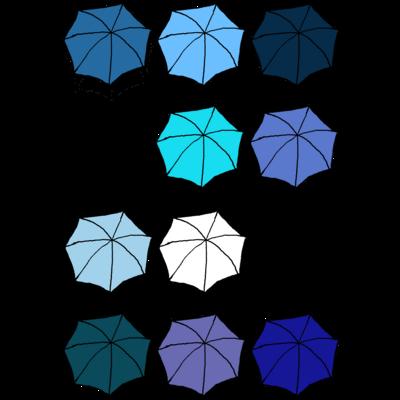 傘の花 あお