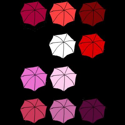 傘の花 あか