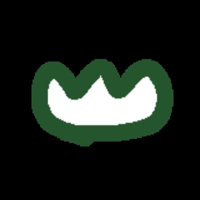 緑の山みたいなチューリップみたいな線